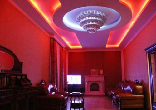 Uma área de estar em Baku Butik Mini-Hotel