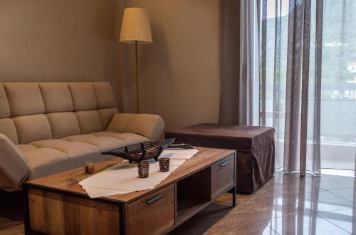 Χώρος καθιστικού στο Maltezos Rooms