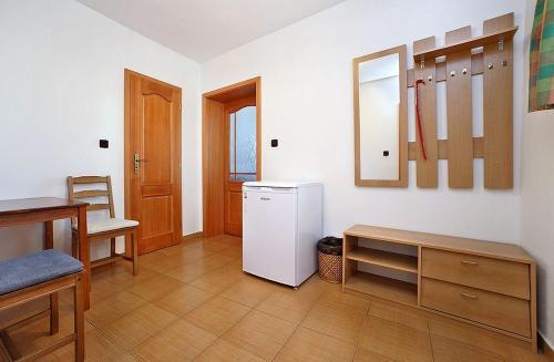 A kitchen or kitchenette at Penzion Kříž