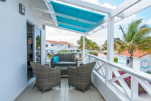 Uma varanda ou terraço em Marazul Dive Resort
