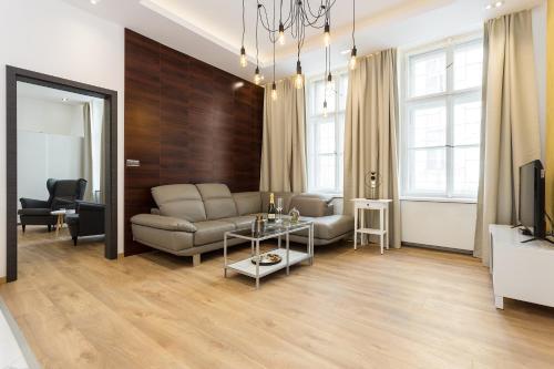 Ein Sitzbereich in der Unterkunft Luxury Lucerna Apartment