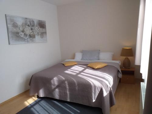 Postel nebo postele na pokoji v ubytování Vila Michal