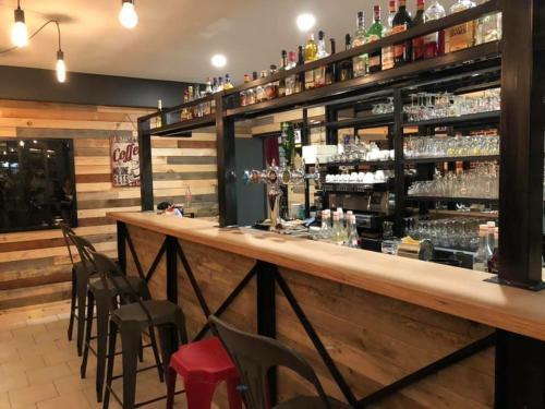 The lounge or bar area at Au Sauvage