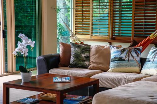 A seating area at Yachtsmans Paradise, Whitsundays
