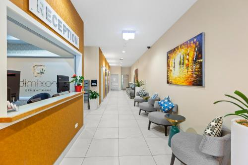 The lobby or reception area at Proximity Apartments Manukau / Auckland Airport