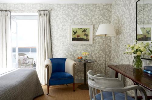 Ein Sitzbereich in der Unterkunft Hotel Tresanton
