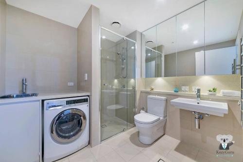 A bathroom at Olympic Park 2Bed 1Bath Stylish Design Room NOP001