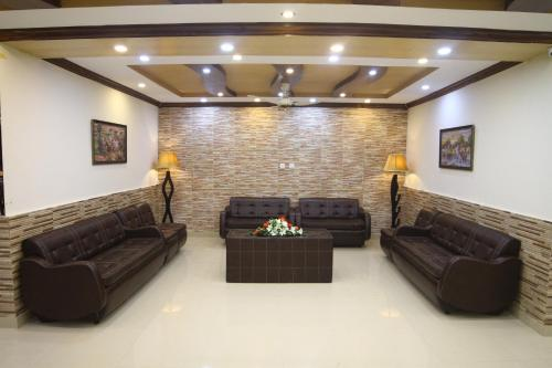 A seating area at CP Hotel Islamabad