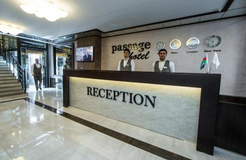 O saguão ou recepção de Passage Boutique Hotel