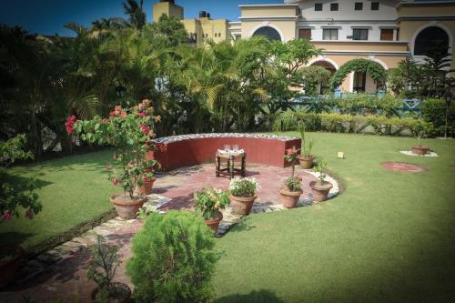 A garden outside MeghBrishti Bari