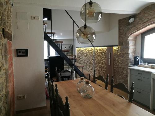 Zona de menjador de la casa o xalet