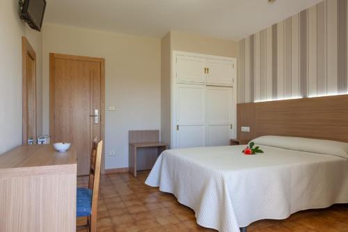 Cama o camas de una habitación en Hotel Turimar