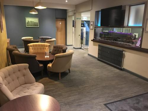 A seating area at Great Western Hotel Swindon