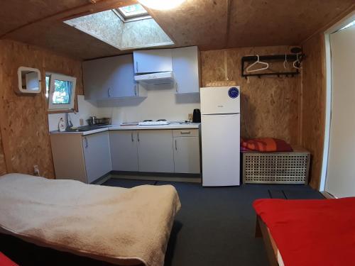 A kitchen or kitchenette at Svistunovo Camping