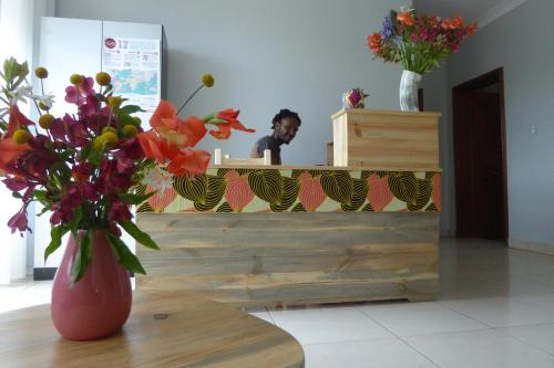 The lobby or reception area at ViaVia Kigali