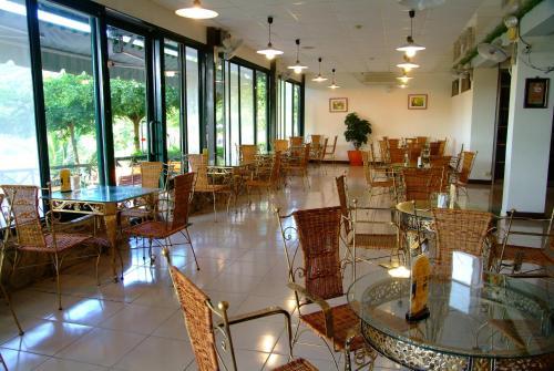 東太陽spa花園溫泉會館餐廳或用餐的地方