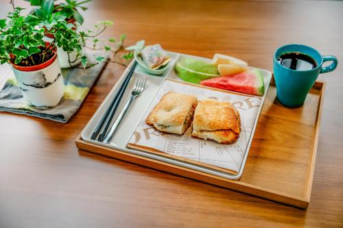 Breakfast options available to guests at Party of the Ocean B&B