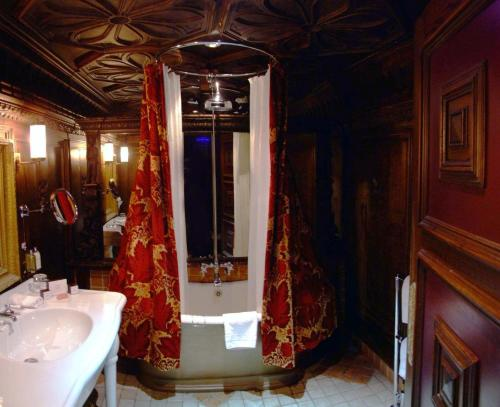 A bathroom at The Witchery by the Castle