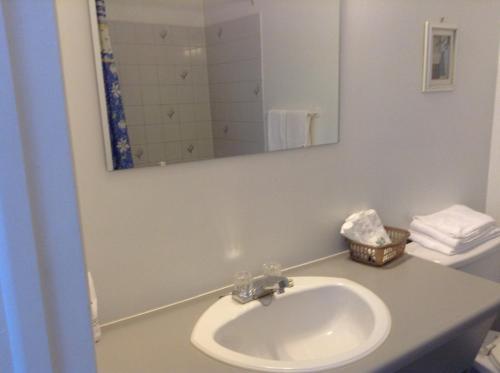 A bathroom at Motel St-Thomas
