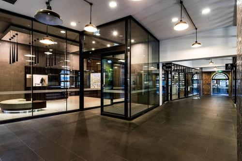 The lobby or reception area at 2BR 2BATH + CAR = QUALITY & STYLE IN MELBOURNE CBD