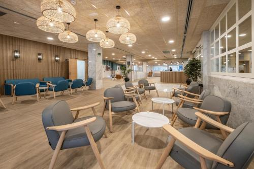 The lounge or bar area at Hotel Rosamar Garden Resort 4*