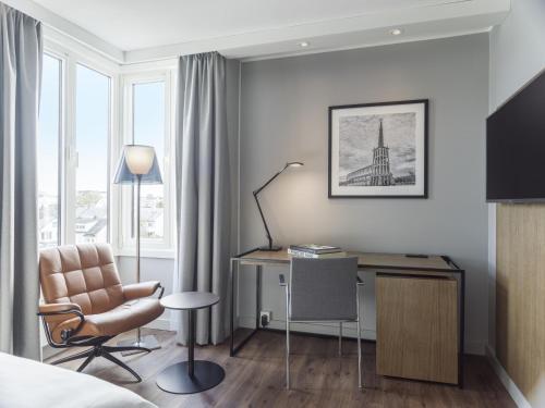 Coin salon dans l'établissement Radisson Blu Hotel Bodø