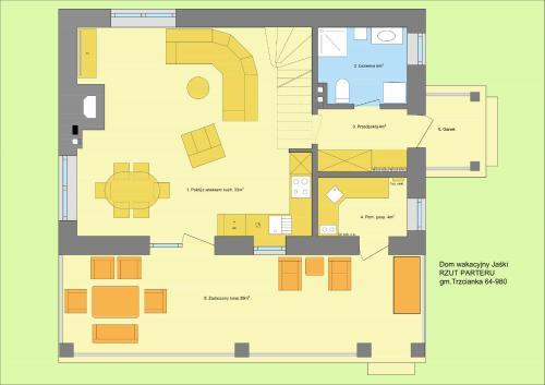 Plan piętra w obiekcie Dom wakacyjny Jaśki