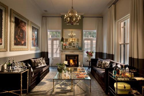 A seating area at Cape Cadogan Boutique Hotel