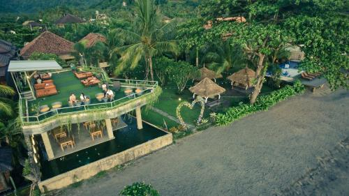 A bird's-eye view of Sunsethouse Lombok