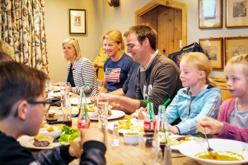 A family staying at Marton Arms Hotel