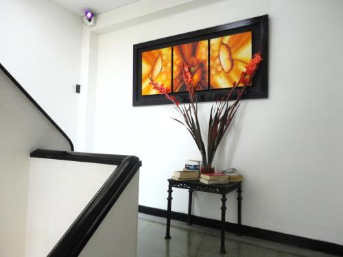 A television and/or entertainment center at Hotel Casa Paulina