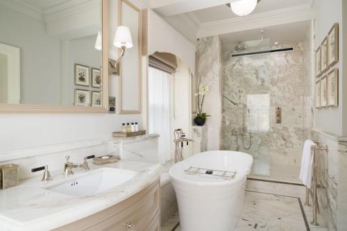 A bathroom at Grantley Hall