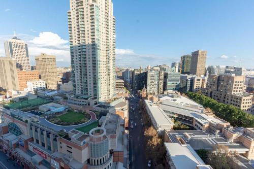 A bird's-eye view of Sydney Life in Haymarket Near Darling Harbour