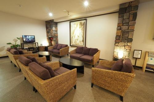 A seating area at Yakushima Green Hotel