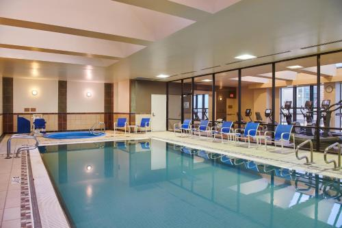 The swimming pool at or near Hilton Anchorage