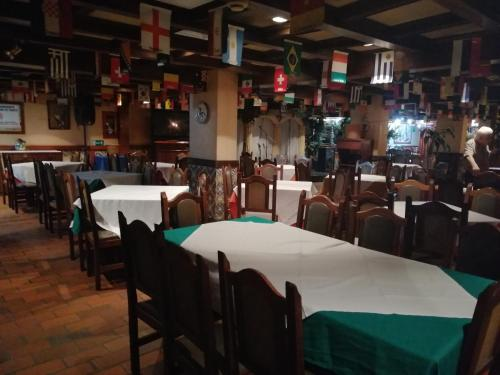 A restaurant or other place to eat at Hotel Lider