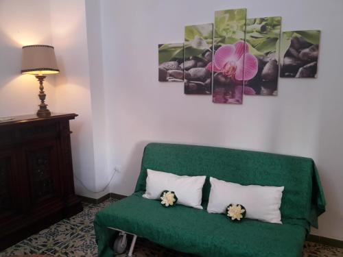 A seating area at Casa vacanze Margherita
