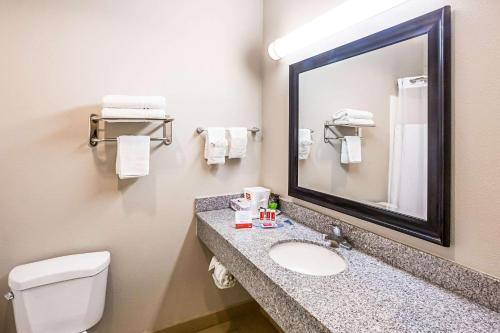 A bathroom at Econo Lodge Baton Rouge University Area
