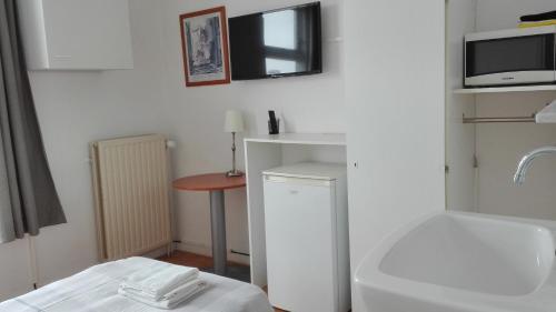 Een badkamer bij Bed & Breakfast Vlissingen