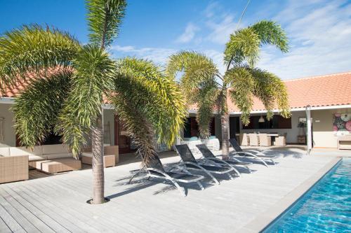 A piscina localizada em Boca Gentil villa C3 - Jan Thiel ou nos arredores