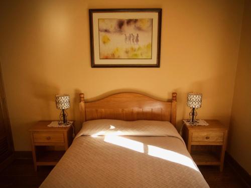Cama o camas de una habitación en Casa De Aida