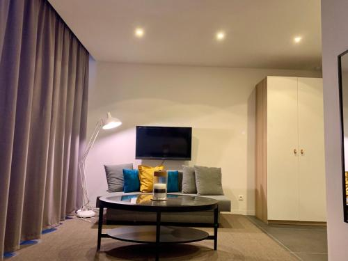 A television and/or entertainment center at Suite 336