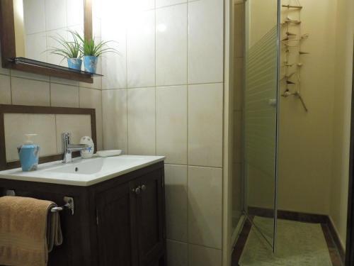 A bathroom at Le Canard Au Parapluie Rouge