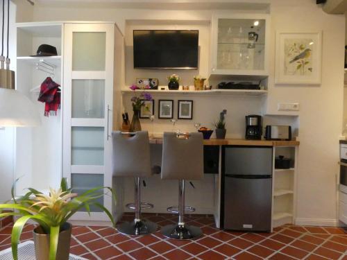 Küche/Küchenzeile in der Unterkunft Torhaus