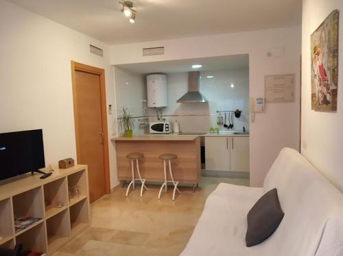 Una cocina o zona de cocina en Apartamento Juan de Herrera