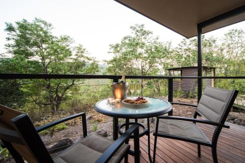 A balcony or terrace at Seclude Rainforest Retreat