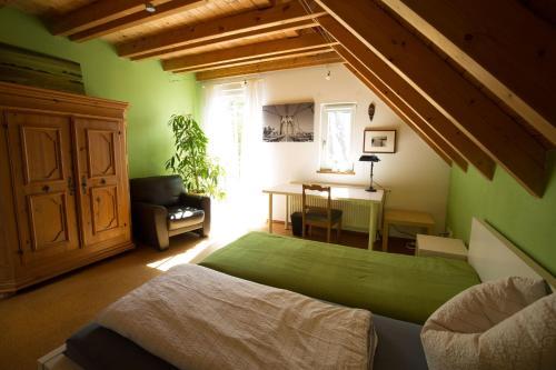 Ein Bett oder Betten in einem Zimmer der Unterkunft Ferienwohnung Hönig