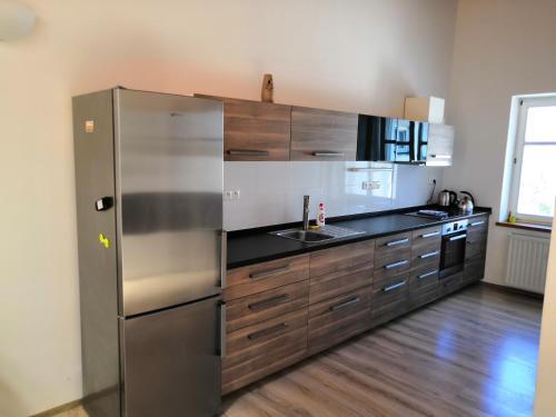 A kitchen or kitchenette at Apartment Olomouc Horni Namesti