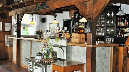 Lounge oder Bar in der Unterkunft Hotel Restaurant Große Teichsmühle