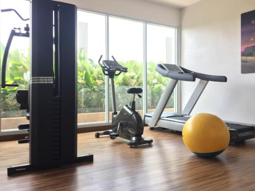 The fitness centre and/or fitness facilities at The Evitel Hotel Batam